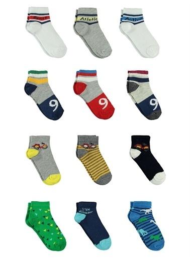 Civil Civil Erkek Çocuk 12'li Çorap Set 2-10 Yaş Gri Civil Erkek Çocuk 12'li Çorap Set 2-10 Yaş Gri Gri
